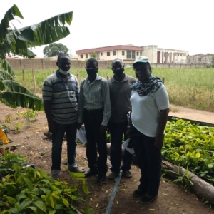 A team of Inspectors at a member's farm in Ogbomosho